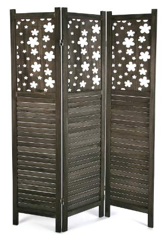 SuskaRegalos Biombo Madera Tres Paneles 170 x 120cm