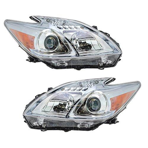 Headlight Headlamp LH Left & RH Right Pair Set for 10-11 Toyota - Headlamp Headlight Rh