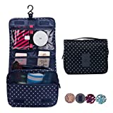CalorMixs Hanging Toiletry Cosmetics Travel Bag Cosmetic Carry Case for Woman Man Travel...