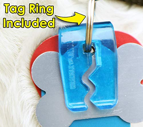 SilenTags Pet Tag Silencer Clip It On, Jingle's Gone! -Blue