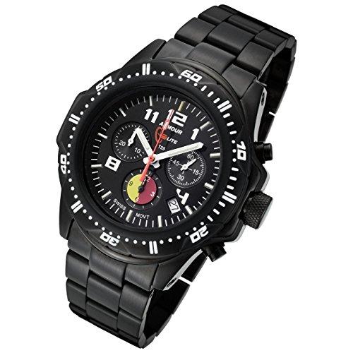 - Armourlite FireFighter Edition H3 Tritium Swiss Chronograph Ronda 5040D Movement Stainless Steel Date Watch