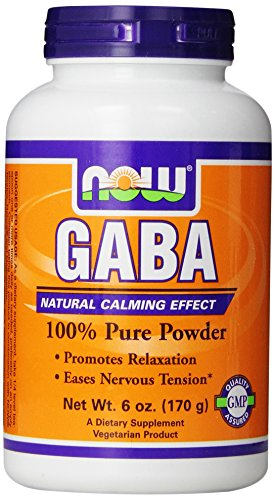 NOW Foods Gaba Pure Powder, 6 Ounces