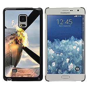 KLONGSHOP // Cubierta de piel con cierre a presión Shell trasero duro de goma Protección Caso - Plano Flaming - Samsung Galaxy Mega 5.8 //