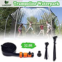 Trampoline Sprinkler for Kids Outdoor Trampoline Spary Water Sprinkler Waterpark Summer Fun Outdoor Toys Sprinkler Tube...