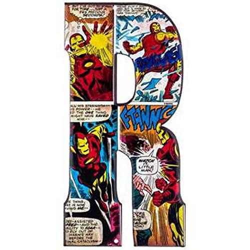 Embossed Letter (Superhero Marvel & DC Comics Embossed Tin Letter Sign (R (Iron-Man)))
