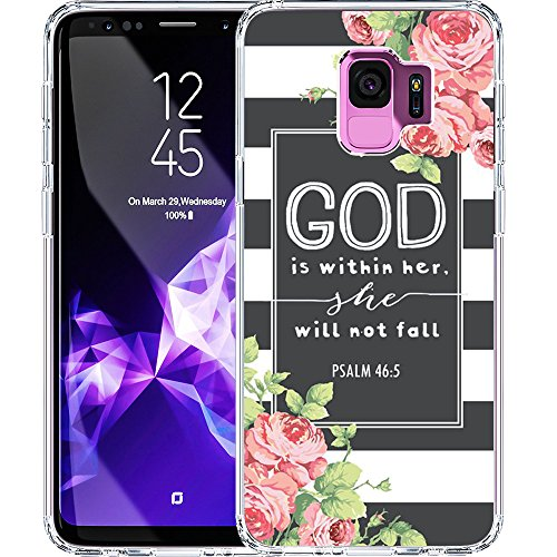 S9 Case, LAACO Scratch Resistant TPU Gel Rubber Soft Skin Silicone Protective Case Cover for Samsung Galaxy S9 Bible Reference Psalm 46:5