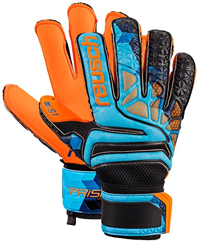 (Reusch Soccer Reusch Prisma Prime S1 Fusion Evolution LTD Goalkeeper Glove Orange/Blue, 8)