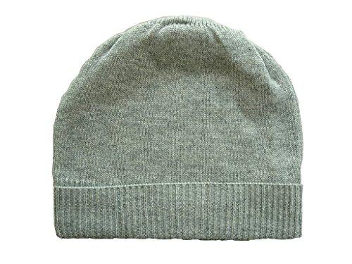 Heather Gray Pure 100% Cashmere Beanie Hat