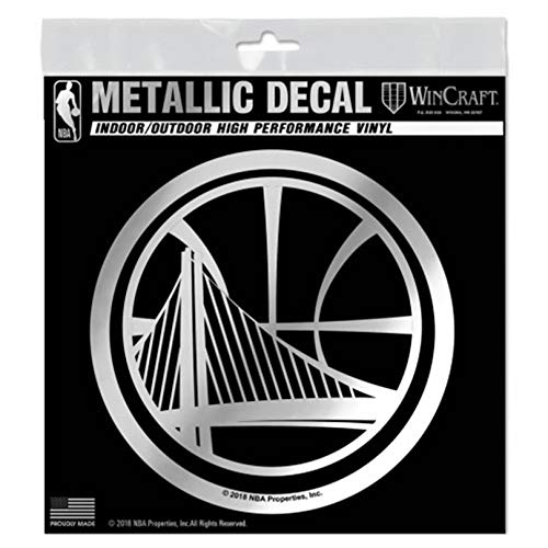 - Golden State Warriors S67606 Metallic Window Decals