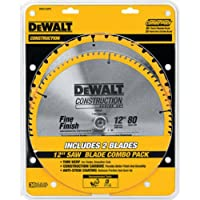 Deals on 2-Pack  DEWALT DW3128 Series 20 12-Inch 80 Tooth Miter Saw Blade