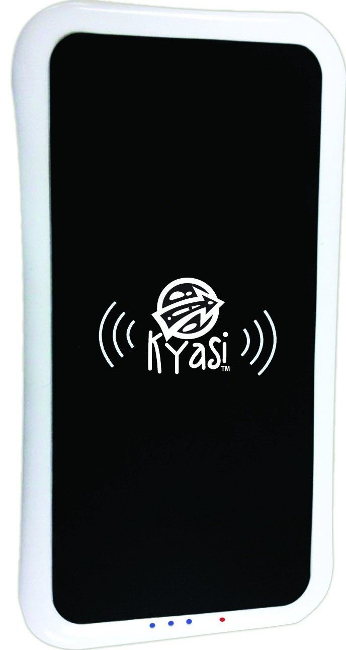 Kyasi Qi Enabled Power To Go Base Charging Station with 5000 mAh Power Bank, Black