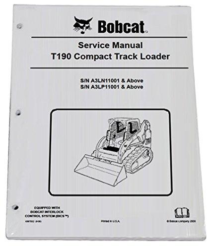 Bobcat T190 Track Loader Repair Workshop Service Manual - Part Number # 6987052