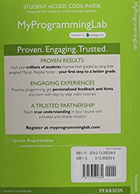 MyProgrammingLab with Pearson eText -- Access Card -- for Intro to Java Programming, Brief Version