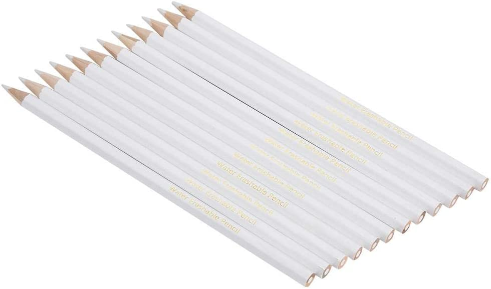 TailorS Water Soluble Pencil Sewing Mark Chalk Tracing Tools Wipe Off//Wash Pencil Dressmaker Practical Tool for Fabric 12Pcs Sewing Marking Pencil White