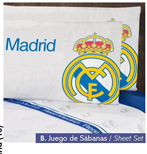 Real Madrid Fuzzy Fleece Blanket 100% Polyester Queen Size and 4 Pc Sheet Set