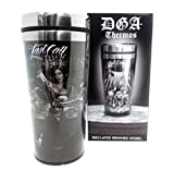 DGA Day of the Dead Rockabilly Skull Last Dance Last Call Insulated Drinking Thermo 16 oz