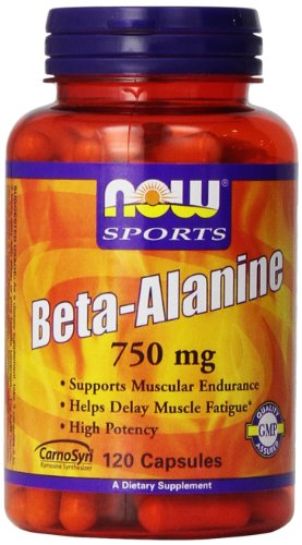 NOW Beta Alanine 750mg 120 Capsules product image