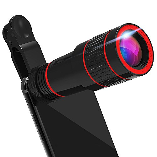 Telephoto Lens, iPhone Camera Lens Zoom Lenses for Cell Phone Smartphone iPhone 7/7 Plus (Black)