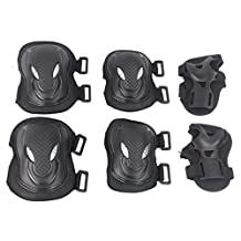 awoez Adult Women men Unisex Cycling Skating Roller Blading Wrist Elbow Knee Safety Pad Protective Gear Sport Guard Pads Set