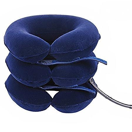Collar de tracción cervical inflable FreeNeck: Amazon.es: Deportes y aire libre