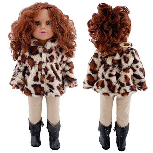 E-TING Dolls Leopard Print Clothes fits for 18 inch Dolls Like American Girl Doll, Our Generation,My Life,Adora,Gotz Doll Accessories Costume Outfits