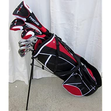 NEW Mens Complete Golf Set Custom Made Clubs for Tall Men 6'0 - 6 6 Tall Right Handed Driver, Fairway Wood, Hybrids, Irons, Putter, Stand Bag