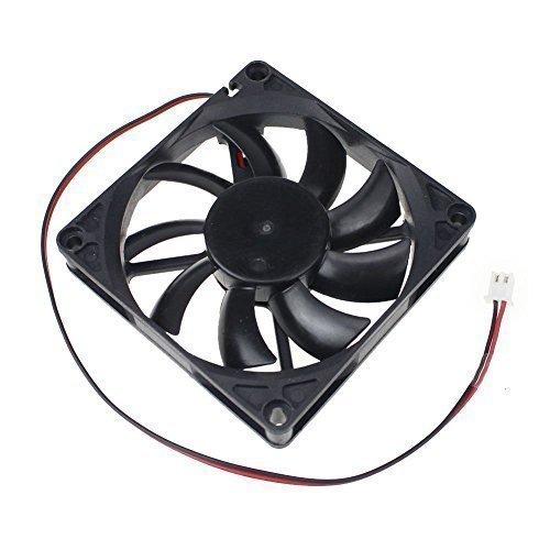 Gdstime 12V 0.2A Dual Ball Bearing 80mm x 80mm x 15mm Brushless DC Cooling Fan (Ball Bearing Brushless)