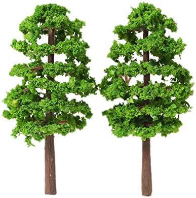 20個70ミリメートルスケールアーキテクチャモデル木鉄道レイアウトガーデン風景風景のミニチュアツリーの構築キットのおもちゃのためにキッズスタイル 木 森 材料 キット 鉄道 庭 建物 大小混載