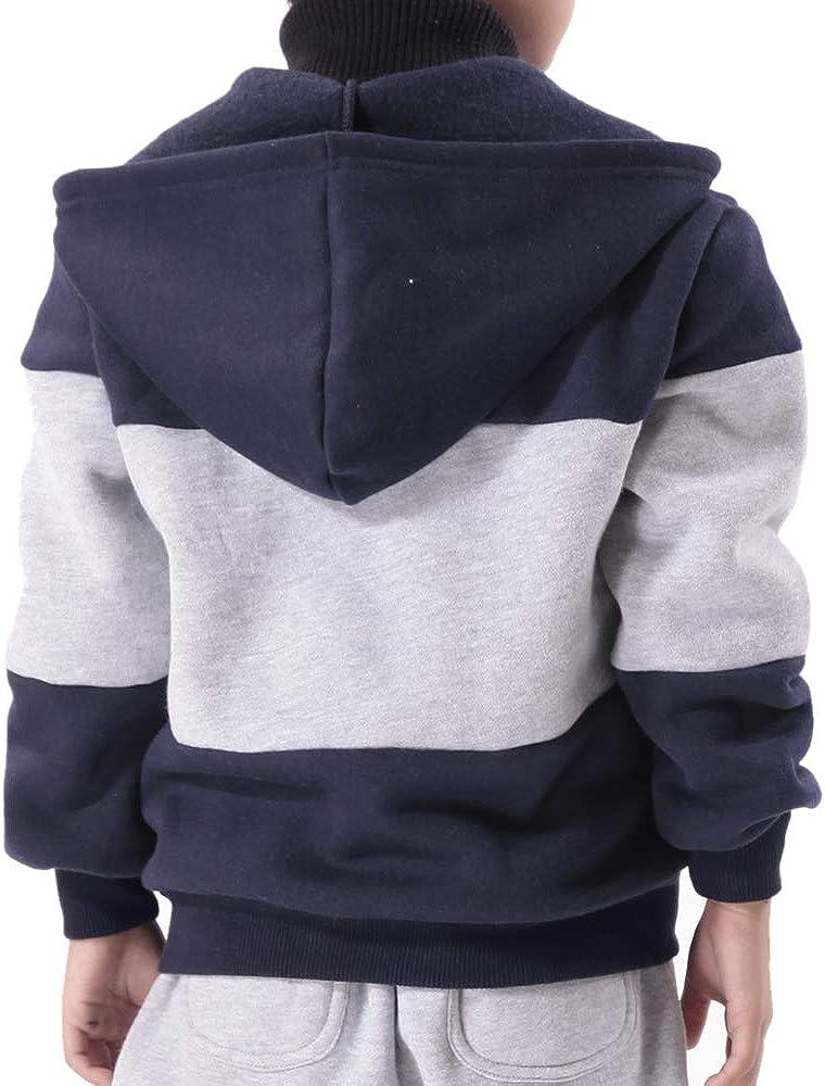 ANCORAGGIO Boy`s Fashion Zip Hooded Sweatshirt