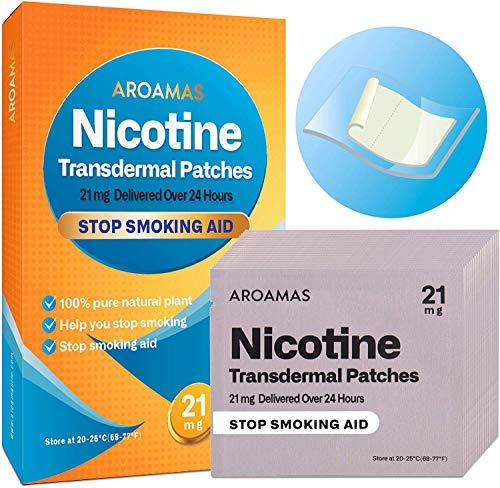 Aroamas Nicotine Patches to Quit Smoking, Nicotine Transdermal Patches 21mg, 21 Patches from Aroamas