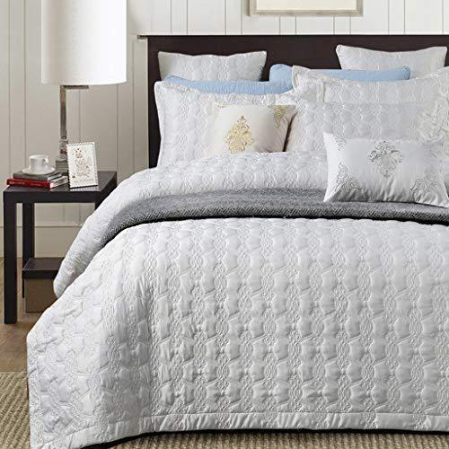ベッドライニング キルトのベッドカバー、100%コットンのベッドカバー/キルト3点セットヴィンテージパッチワークキルトツインサイズベッドカバー 写真ベッドライニング B07SSYQ2HV