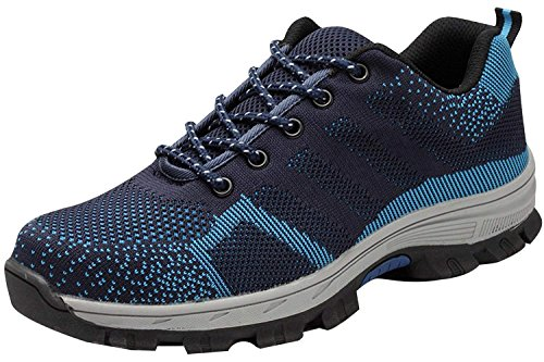 Trainers Toe Hiker Lightweight Shoes Protection Cap Steel Blue Work Safety Midsole Mens Womens axqwZEU1O