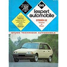 REVUE TECHNIQUE L'EXPERT AUTOMOBILE N° 281 CITROEN AX MOTEUR ESSENCE 10 / 11 / 14 / GT / SPORT / MOTEUR DIESEL / 3 ET 5 PORTES