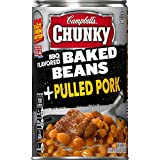 pre packaged meals - Campbell's Chunky Baked Beans, BBQ Flavored Plus Pulled Pork, 20.5 Ounce (Packaging May Vary)