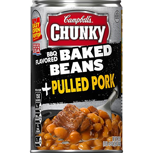 Campbell's Chunky BBQ Flavored Baked Beans & Pulled Pork, 20.5 oz. Can (Pack of 12)