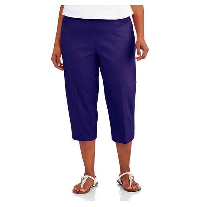 f551d5c2077af George Women s Plus-Size Millennium Suiting Pull-On Capri Pants (4X Plus