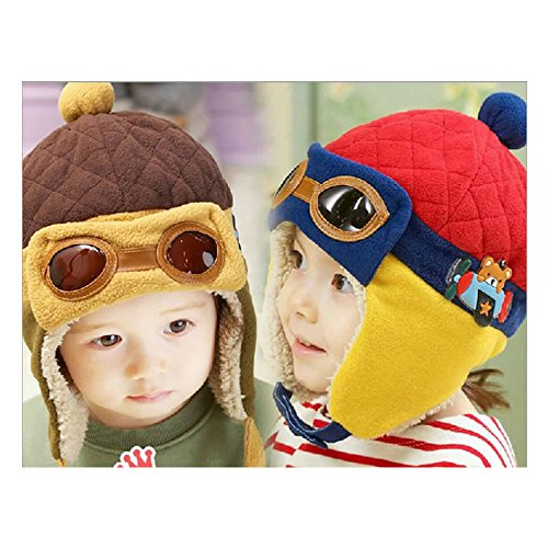 WAN ROU Hot Selling Baby Girl Boy Infant Cute Bonnet Warm Pilot Hat Cap  Bebe Toddler f83432846f55