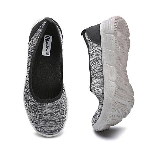 Hawkwell Mujeres Flexible Slip-on Flat Grey