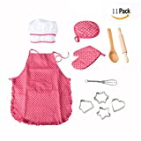 OFKP 11 Pcs Children's Cooking Aprons Play Costume, Kids DIY Baking Chef Set Kids Cooking Play