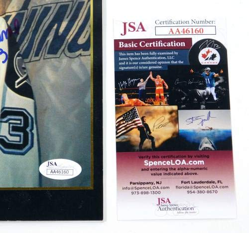 Manon Rheaume Signed The Investor's Journal Magazine Lightning Auto JSA Certified Autographed Sports Magazines