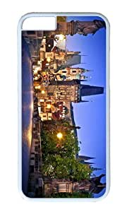 MOKSHOP Adorable charles bridge prague Hard Case Protective Shell Cell Phone Cover For Apple Iphone 6 (4.7 Inch) - PC White by icecream design