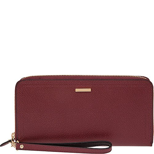 Lodis Accessories Women's Stephanie RFID Under Lock & Key Vera Wristlet Wallet Burgundy Wallets by Lodis