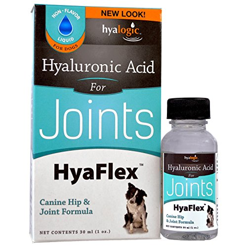 Dog Joint Supplement, Hyalogic Hyaluronic Acid Joint Supplement for Dogs - 30-60 Day Supply, 1oz HA Canine Joint Support, Cartilage Supplement & Dog Coat Supplement, W/ No Fuss Liquid Dropper
