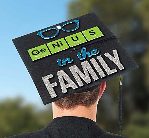 (Amscan 392085 Graduation Cap Sticker, One Size, Multicolor)