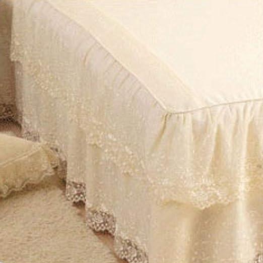 Encaje algodon Faldas de la cama, Tejido agradable para la piel, a ...
