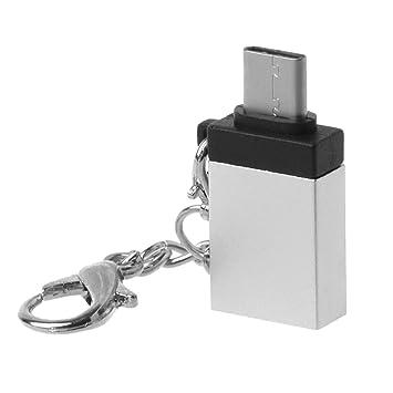 BULAGE Tipo C Macho a USB 3.0 OTG Hembra con Llavero para ...