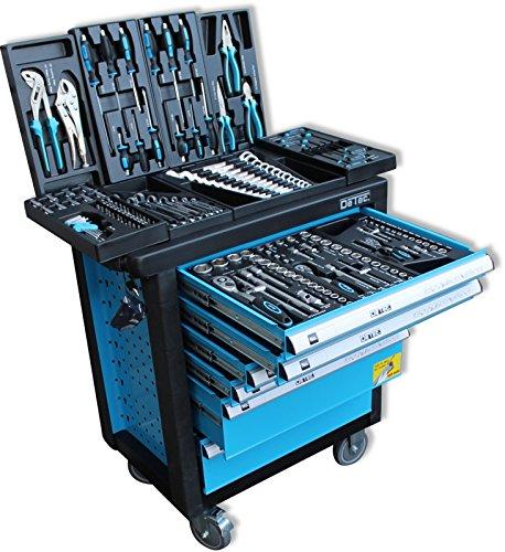 DeTec. Werkstattwagen blue Edition inkl. Werkzeug