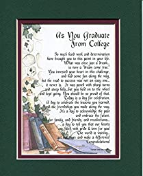 #143 A Graduation Gift Present Poem For The College Graduate.