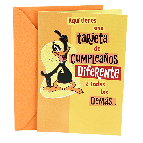 hallmark-vida-spanish-birthday-greeting-card-warner-brothers-daffy-duck
