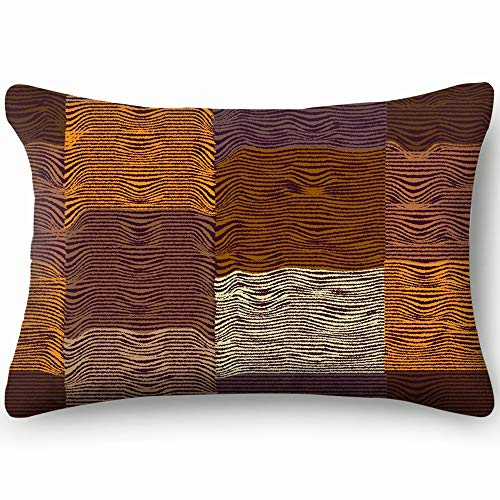 Quilt Checkered Striped Abstract Cotton Linen Blend Decorative Throw Pillow Cover Cushion Covers Pillowcase Pillow Shams, Home Decor Decorations for Sofa Couch Bed Chair 20X36 Inch